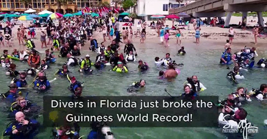 World Record Attempt - Largest Clean-Up Underwater